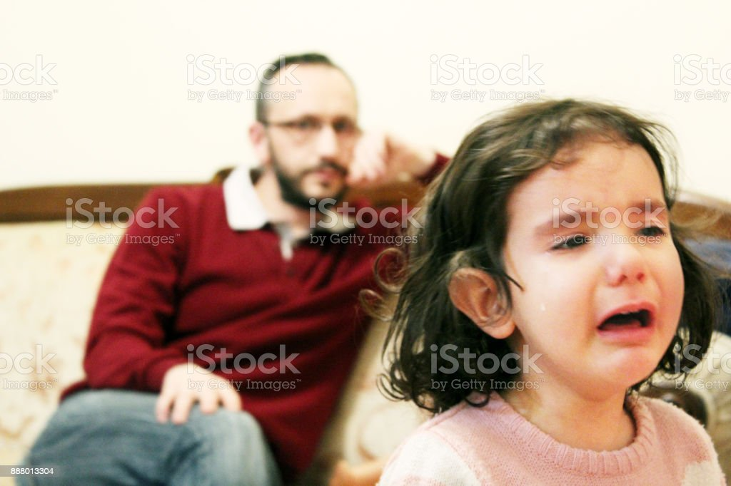 she is crying stock photo