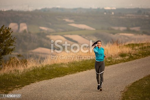 1142900322 istock photo She is determined to maintain a healthy lifestyle! 1142903127