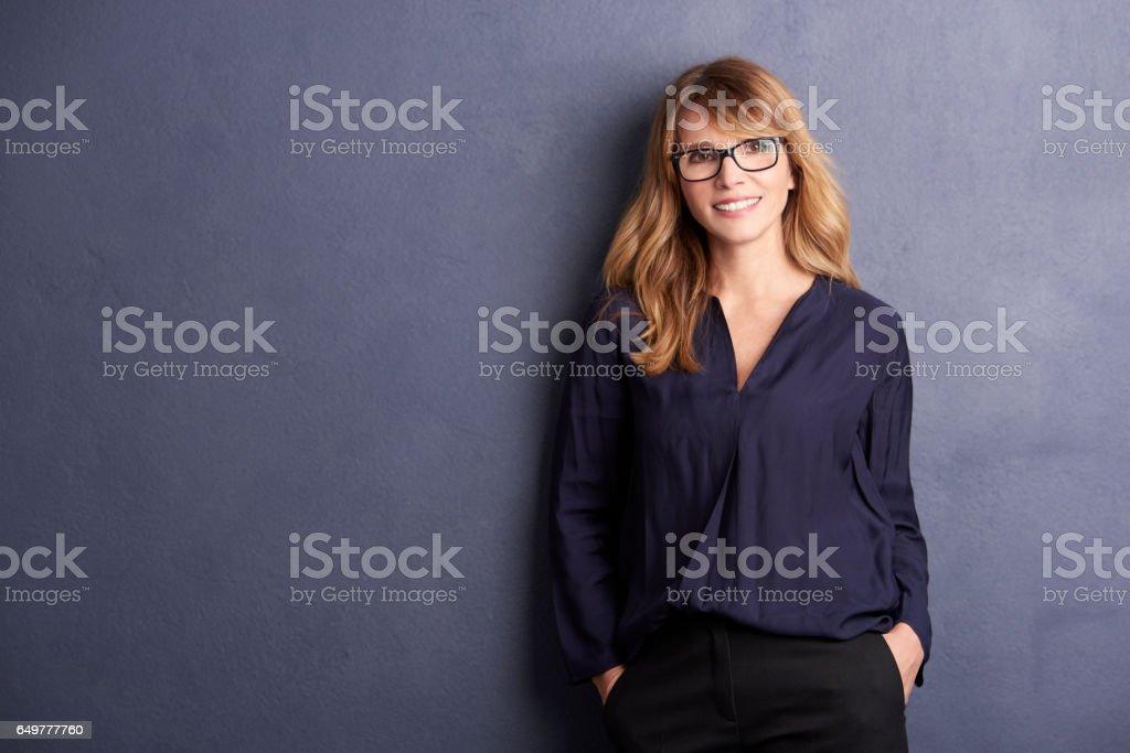 She is looks amazing stock photo