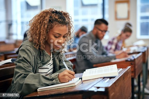 istock She is ready for the exam because she studied 871569792