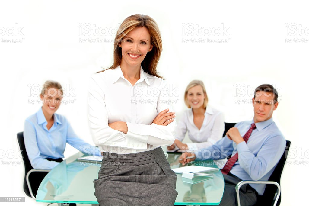 She is the Manager stock photo