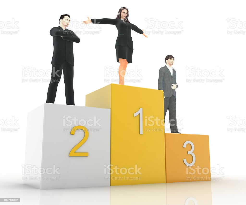 She is the Winner royalty-free stock photo