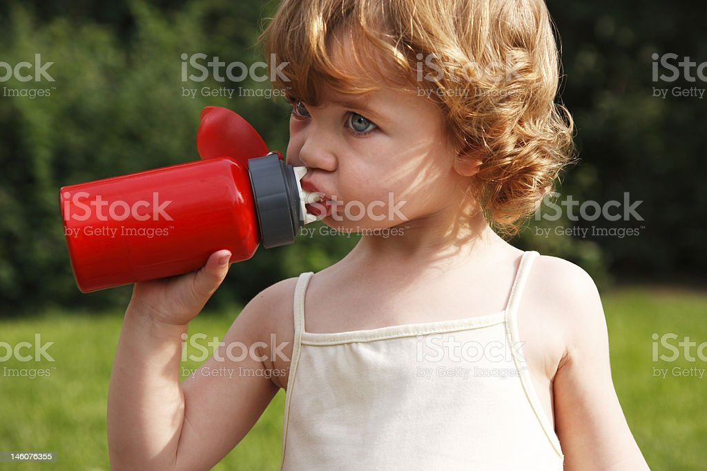 She is thirsty royalty-free stock photo