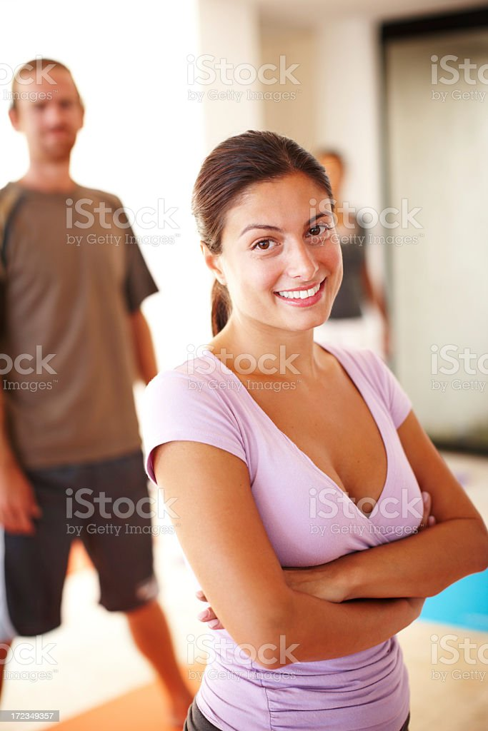 She knows how it's done royalty-free stock photo