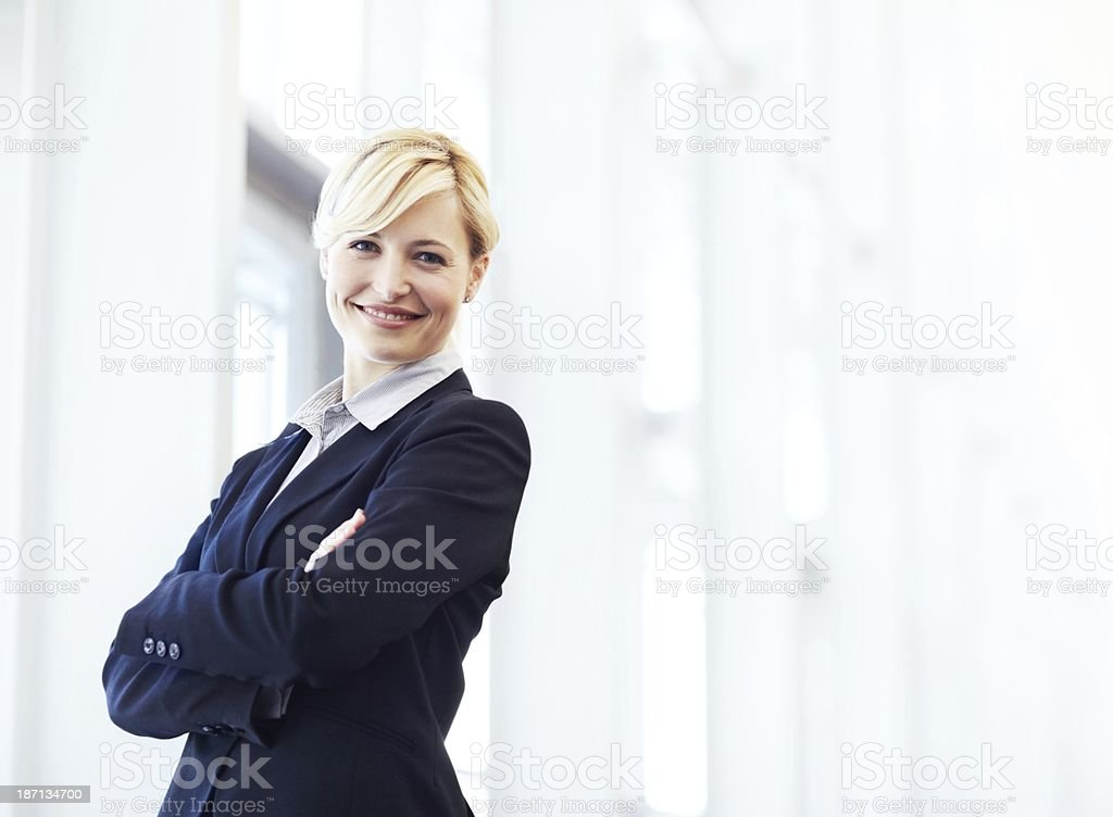 She knows what she's doing stock photo