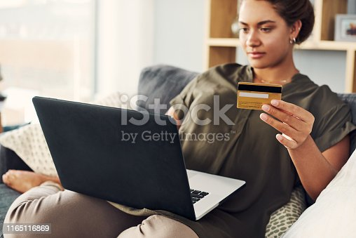 istock She knows where to browse for the best deals 1165116869