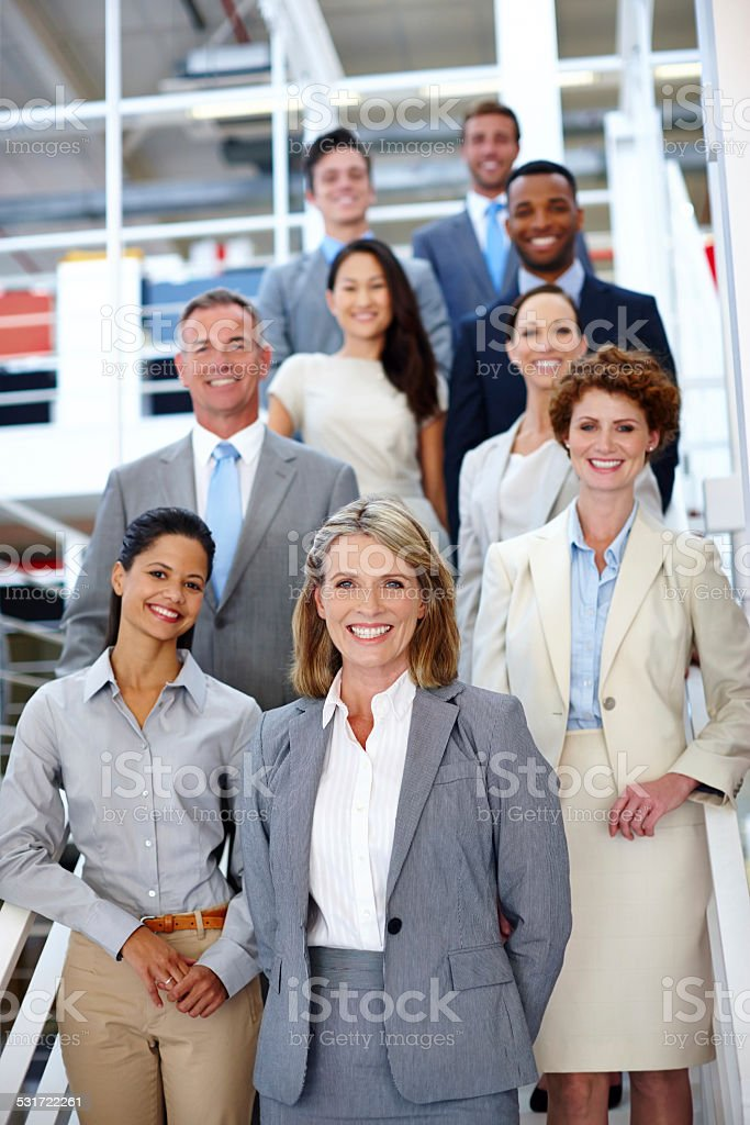 She leads the way stock photo