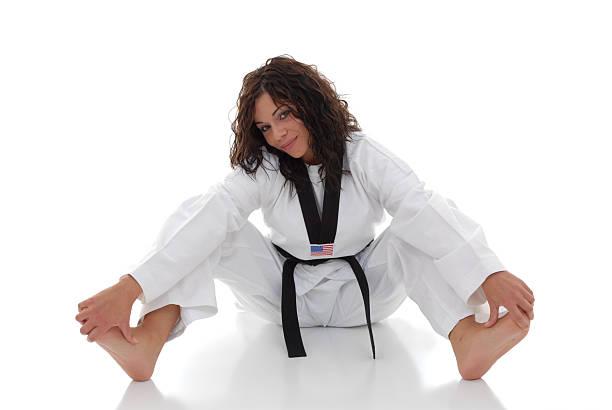 She likes tae kwon do stock photo