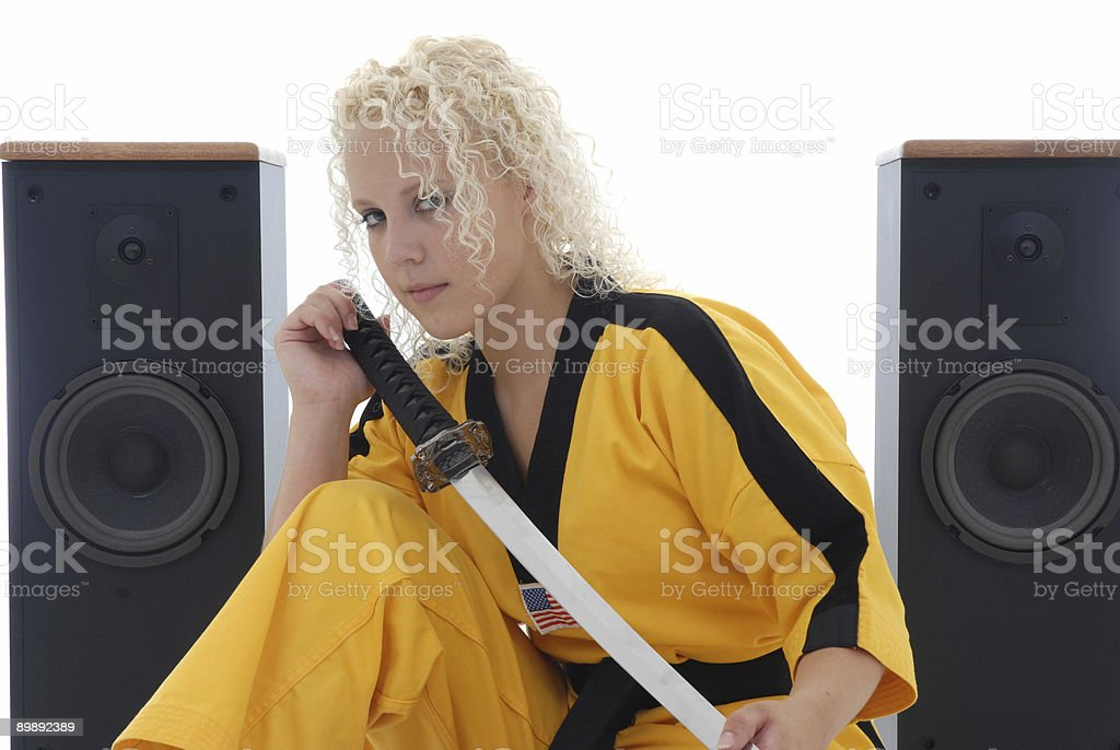 She likes to cut royalty-free stock photo