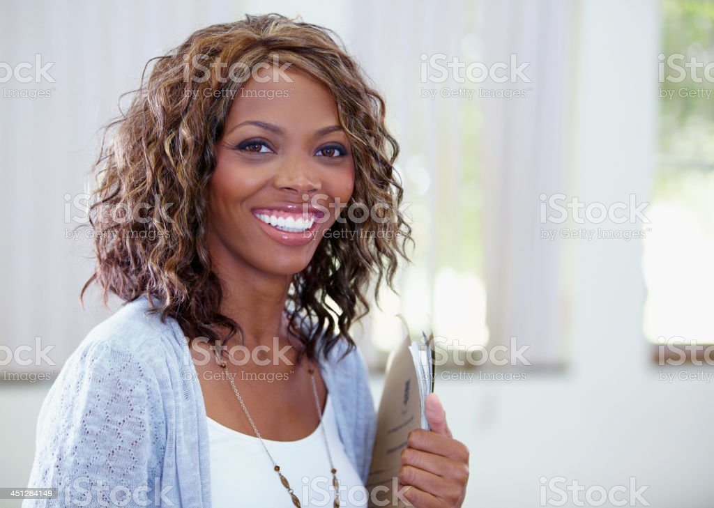 She loves being a teacher stock photo