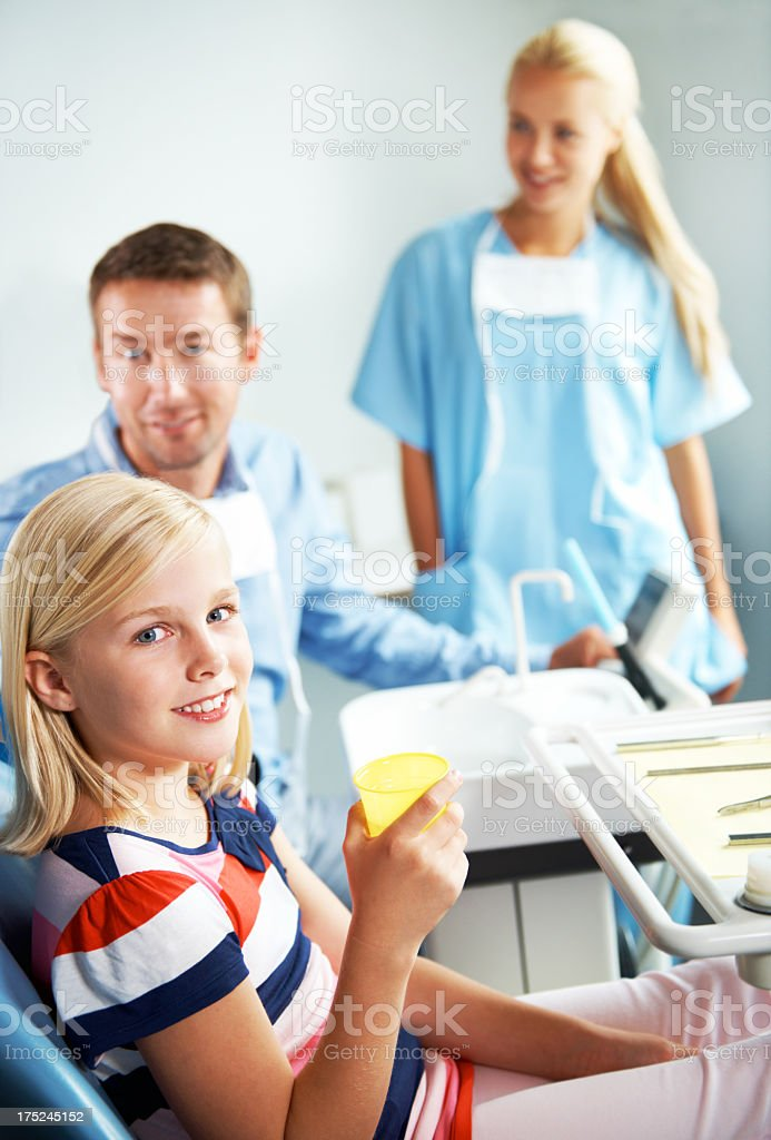 She loves her dentist royalty-free stock photo