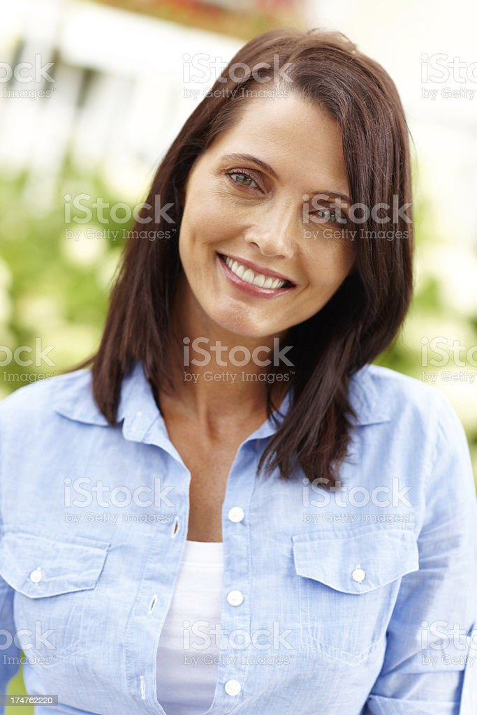She loves her domestic life royalty-free stock photo