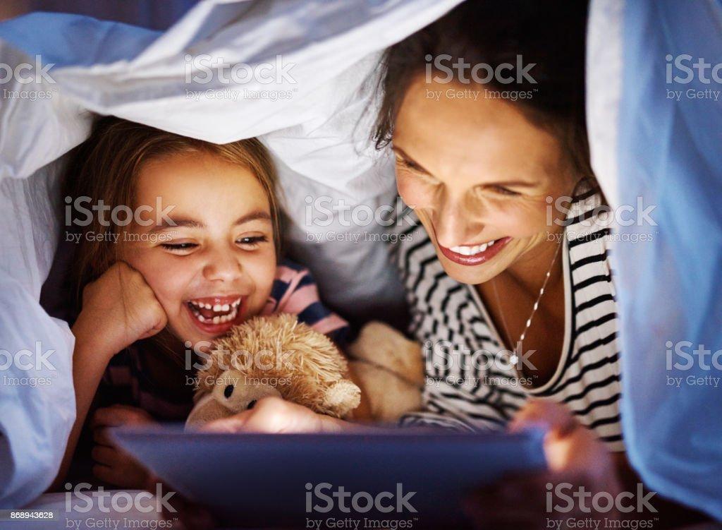 She loves her stories stock photo