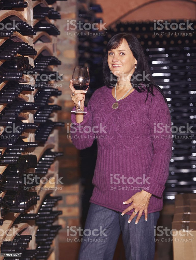 She loves her wine royalty-free stock photo