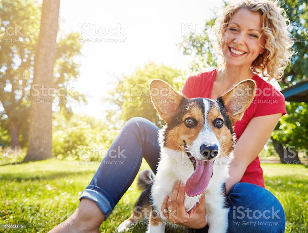 She loves him as much as he loves her stock photo
