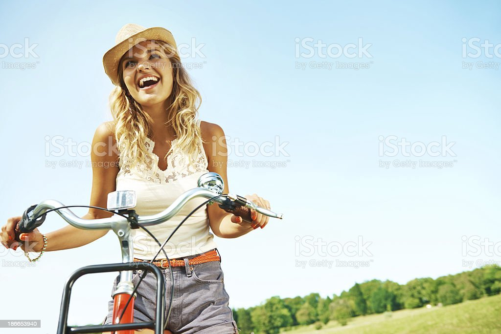 She loves the outdoors! royalty-free stock photo