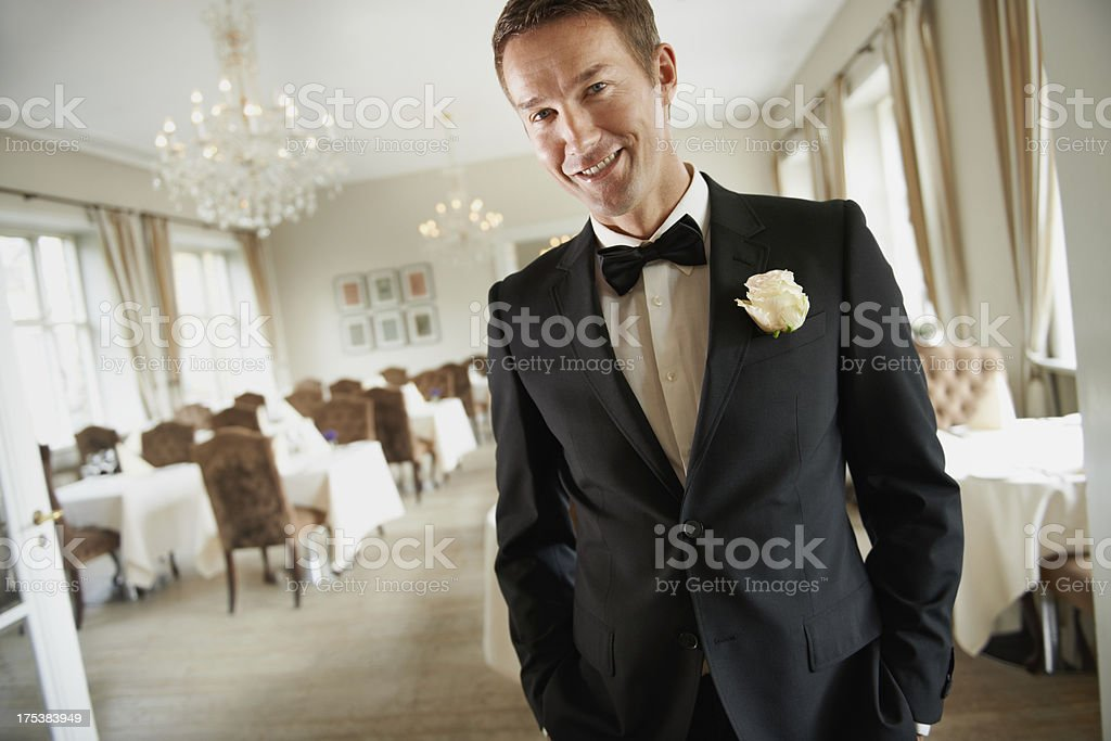 She made me the luckiest guy on earth stock photo