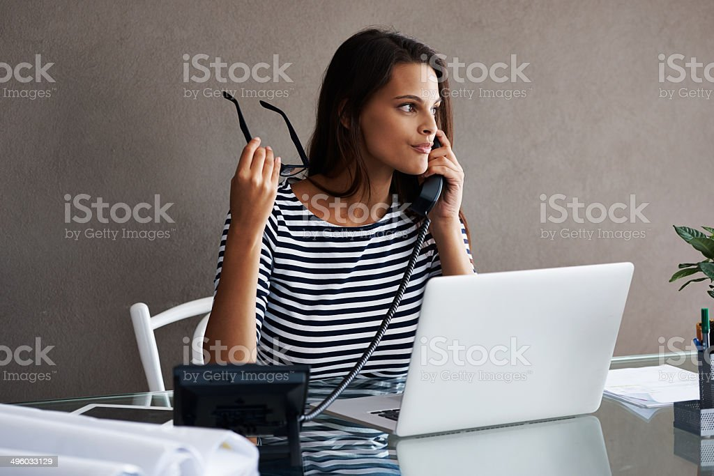 She makes every client feel important stock photo
