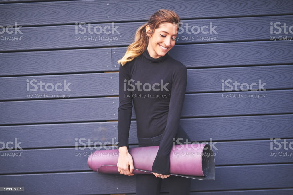 She never leaves home without it stock photo