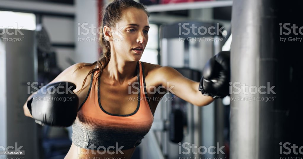 She packs a punch stock photo
