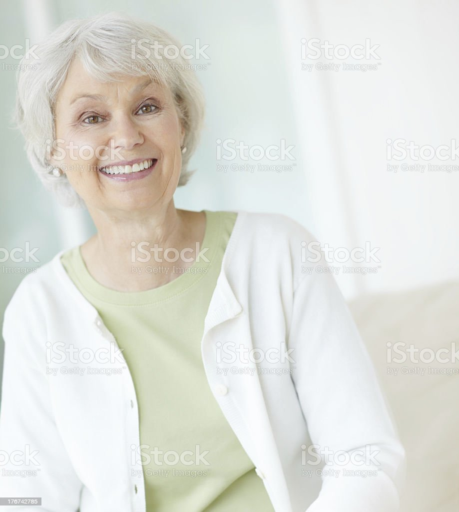 She planned for her retirement stock photo