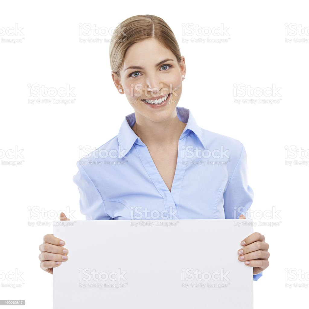 She really believes in your message! royalty-free stock photo