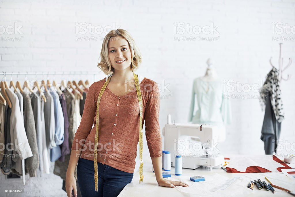 She runs a successful business stock photo