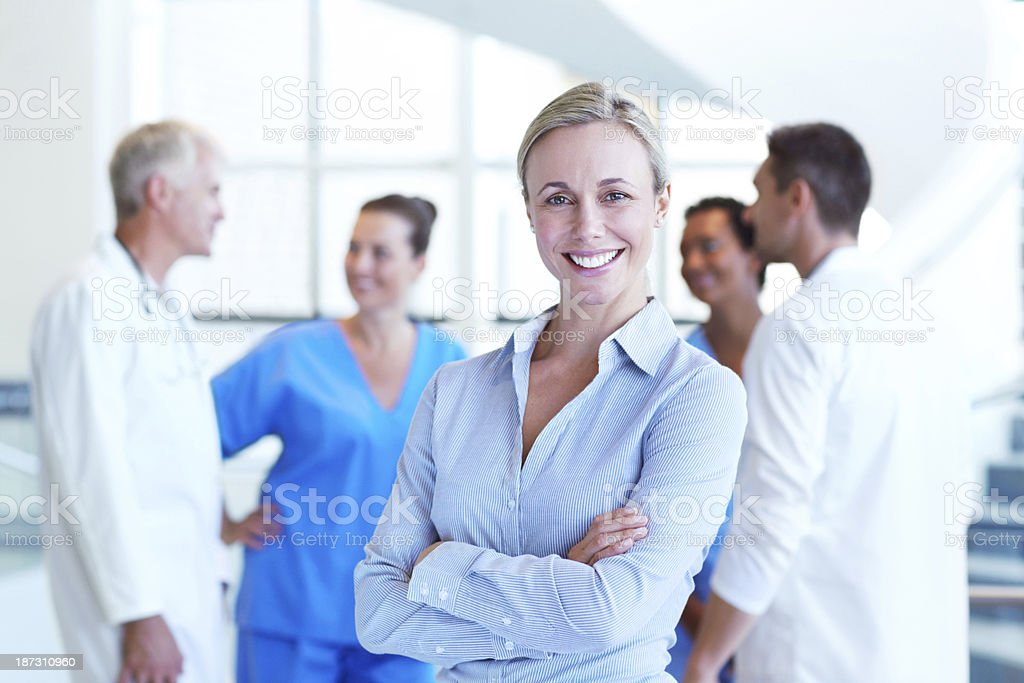 She runs the hospital with expert ease stock photo