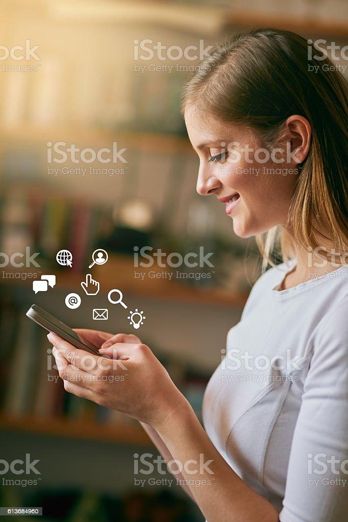 She speaks fluent tech stock photo