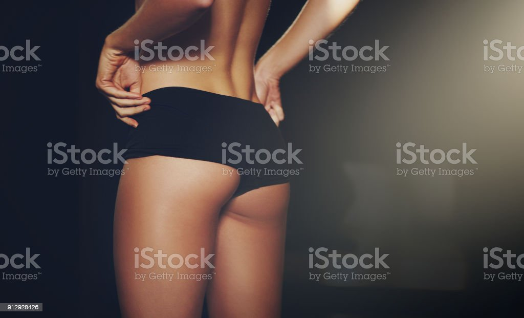 She stays in shape stock photo