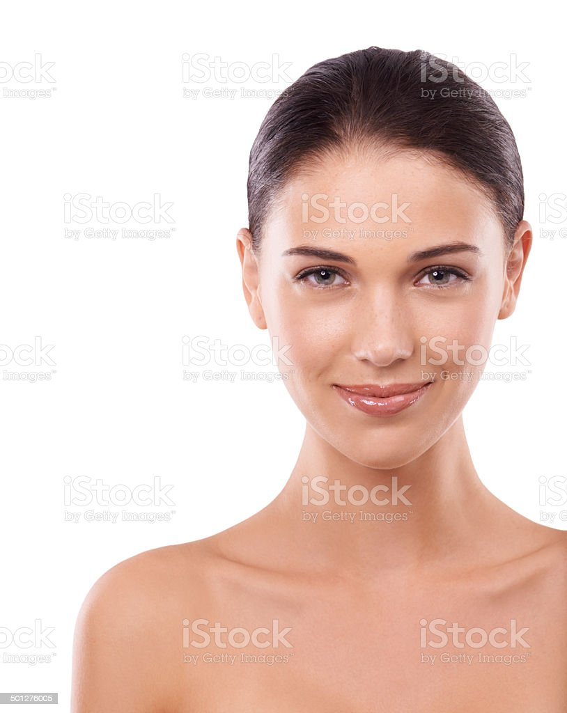 She takes good care of herself stock photo