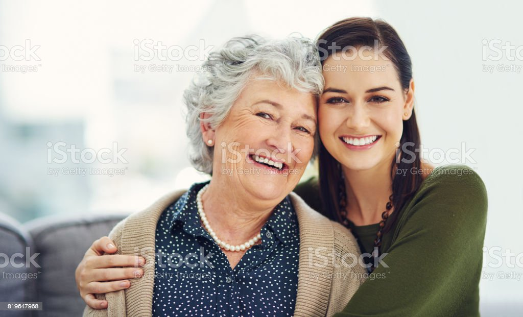 She taught me the value of love stock photo