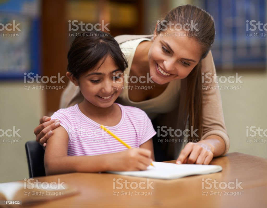 She teaches them well stock photo