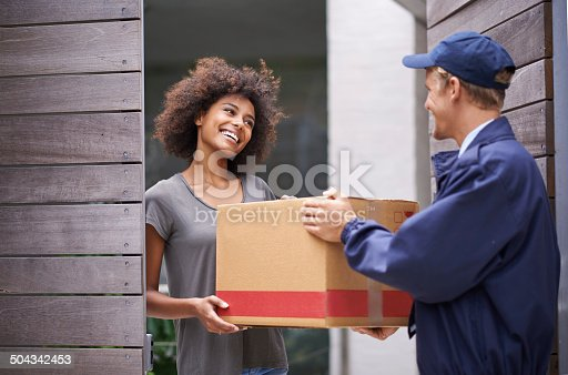istock She was grateful that he had come on time 504342453