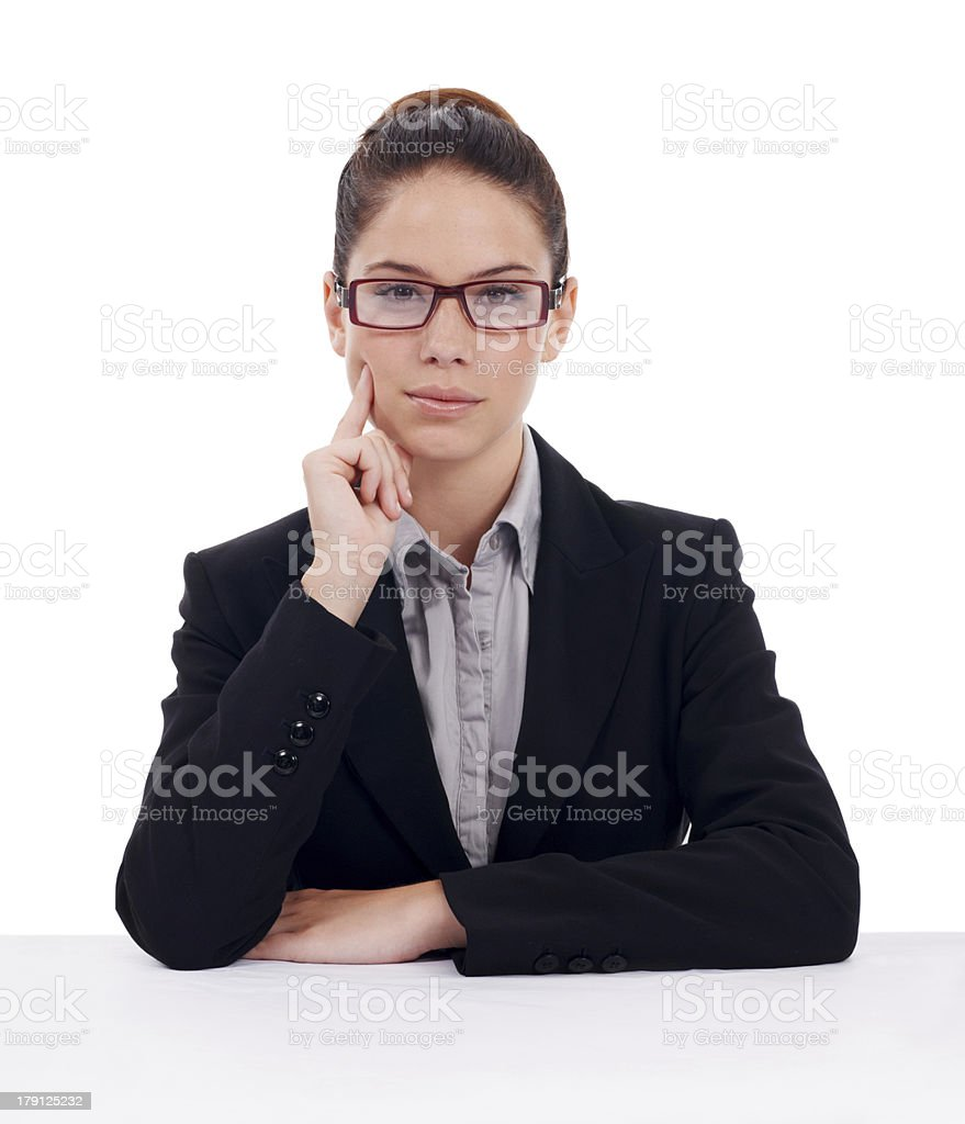 She worked hard for her success royalty-free stock photo