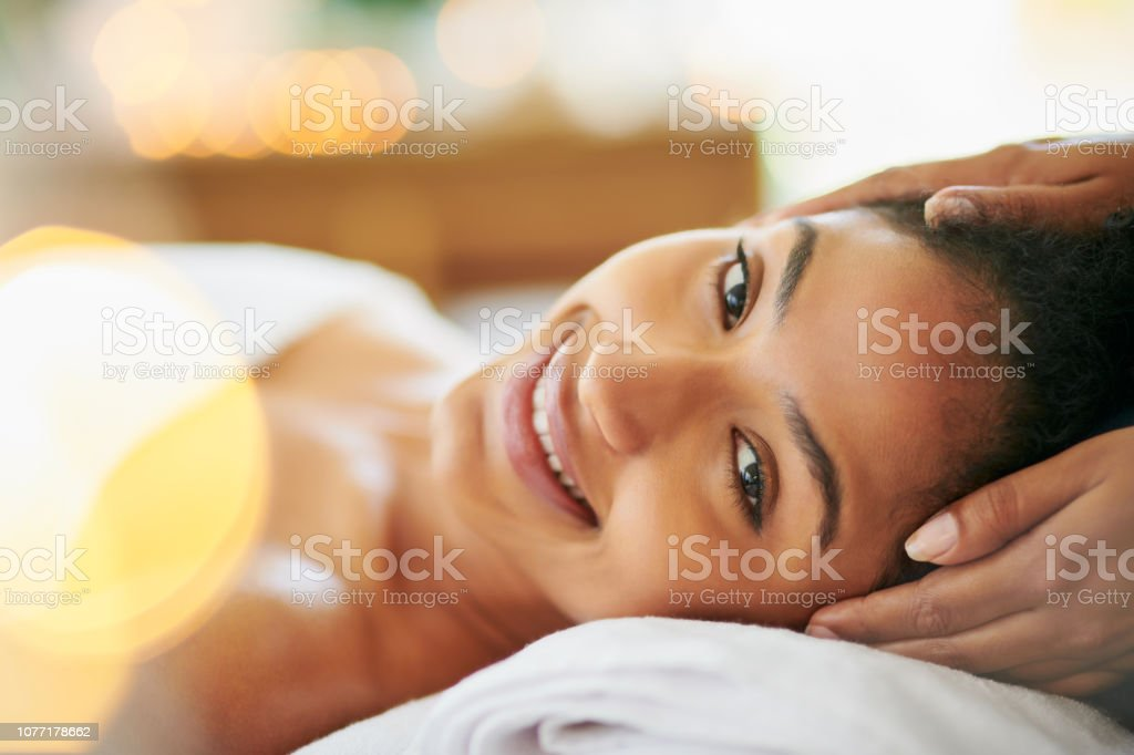 She works miracles with her hands stock photo