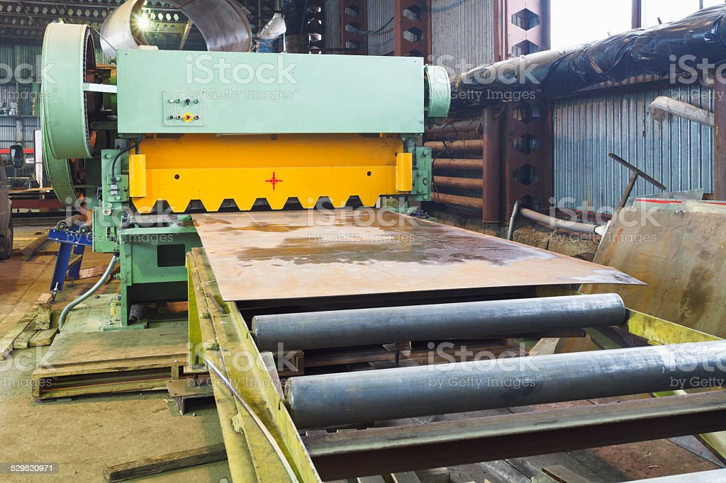 shear machine for metal sheets stock photo