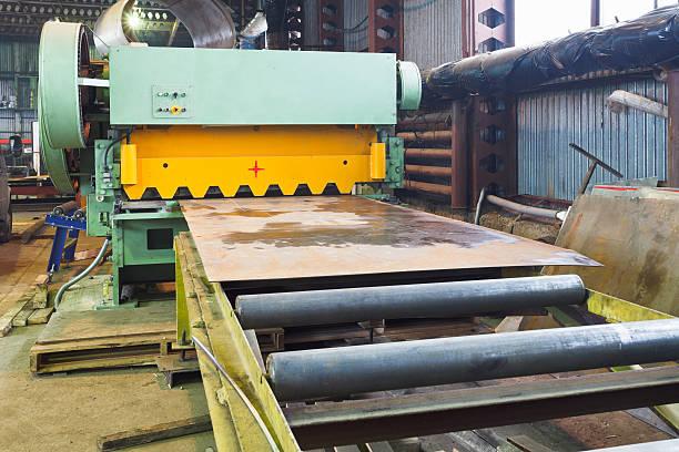 shear machine for metal sheets stock photo