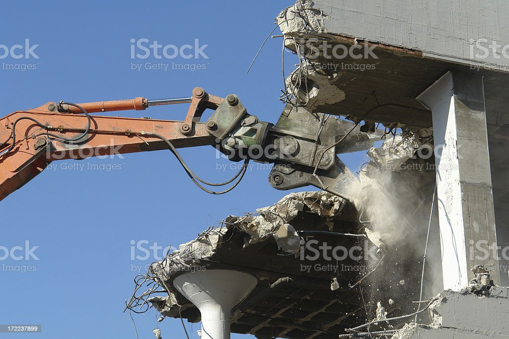 shear tractor claw releases stock photo