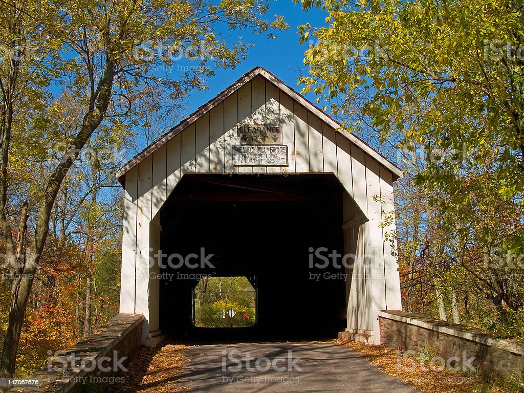 Sheards Mill Covered Bridge 1 stock photo