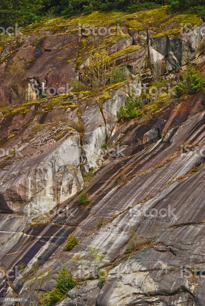 Sheared Rock royalty-free stock photo