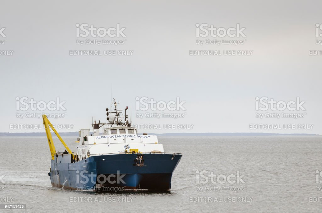 R/V Shearwater on Acushnet River stock photo