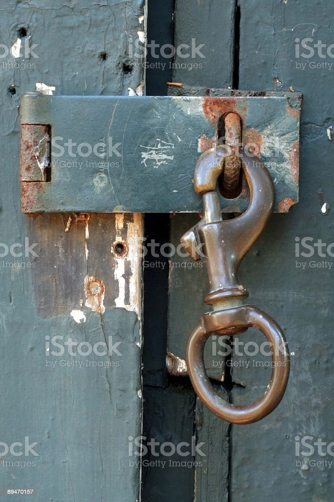Shed Door Latch royalty-free stock photo