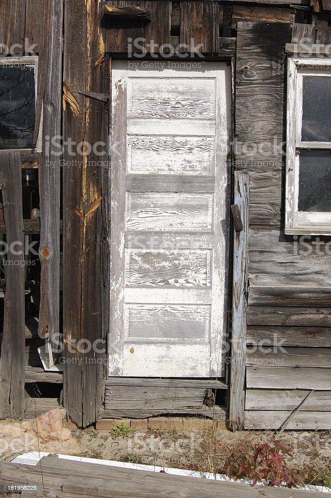 shed door stock photo