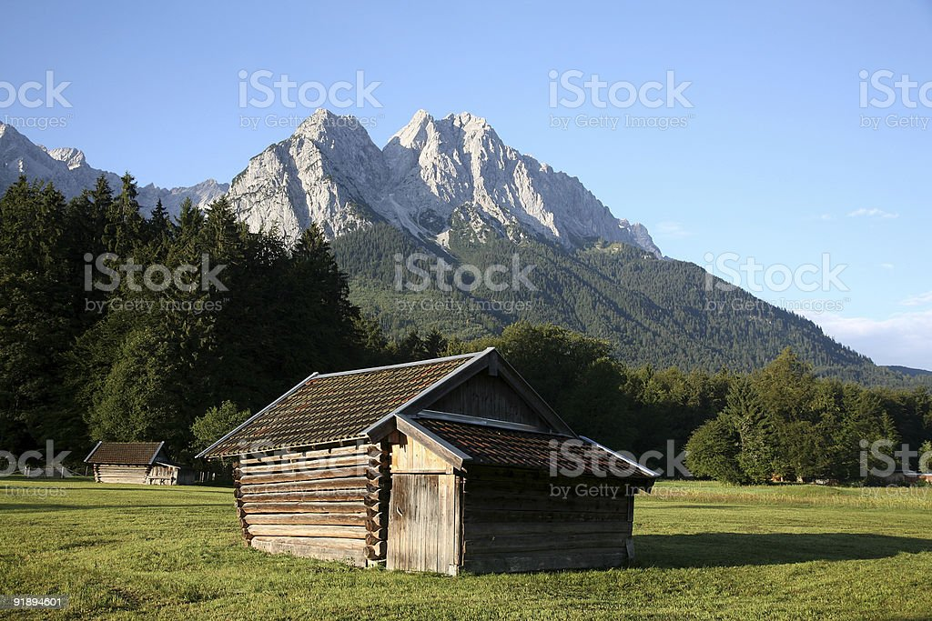 Shed in the Alps royalty-free stock photo