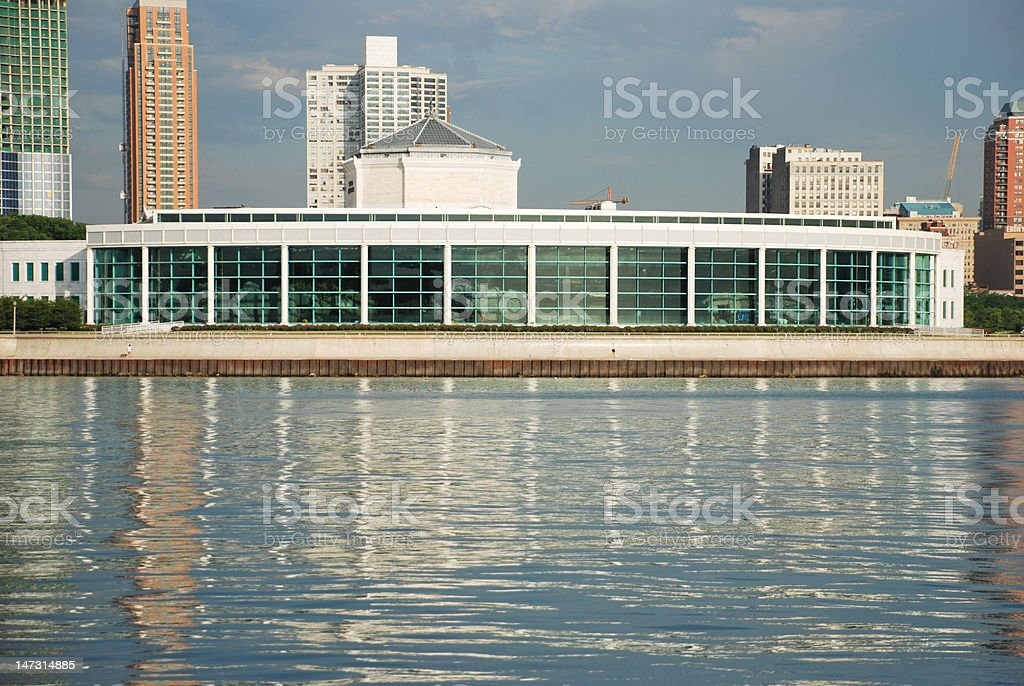 Shedd Aquarium, downtown Chicago royalty-free stock photo