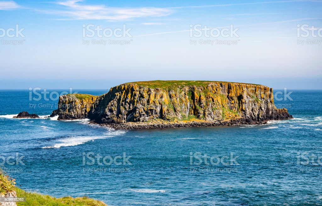 Sheep Island in Northern Ireland, UK stock photo