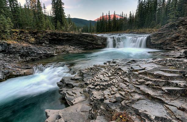 Sheep River Falls Allberta stock photo