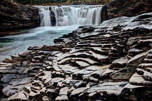 Sheep River Falls stock photo