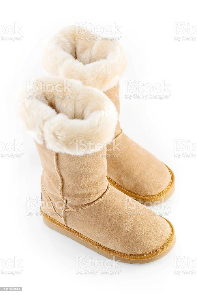 Sheepskin Boots royalty-free stock photo